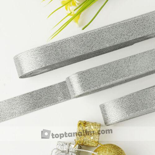 2 Cm Simli Parlak Saten Kurdele Silver(kr8108)