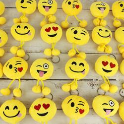 Ponponlu Emoji Anahtarlık 12'li Paket (kr1063) - Thumbnail