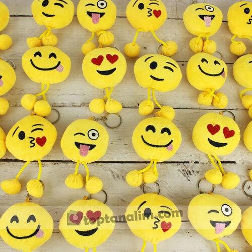 Ponponlu Emoji Anahtarlık 12'li Paket (kr1063)