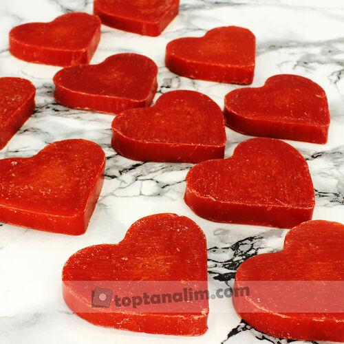 Büyük Boy El Yapımı Kırmızı Kalp Sabun(kr7001)