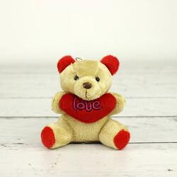 Büyük Boy Love Peluş Ayıcık Anahtarlık Kahverengi 12'li Paket (kr1035) - Thumbnail