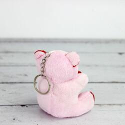 Büyük Boy Love Peluş Ayıcık Anahtarlık Pembe 12'li Paket (kr1029) - Thumbnail