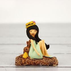 Büyük Boy Oturan Kız Teraryum Obje (kr3028) - Thumbnail