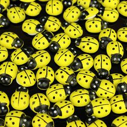 Büyük Boy Yapışkanlı Uğur Böceği Sarı 100'lü Paket (kr6008) - Thumbnail