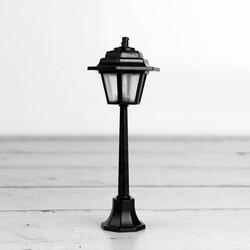 Siyah Sokak Lambası Teraryum Obje (kr3006) - Thumbnail