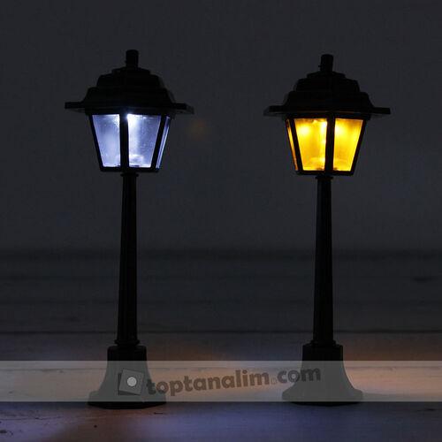 Siyah Sokak Lambası Teraryum Obje (kr3006)