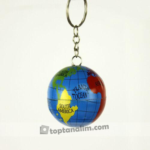 Metal Dünya Anahtarlık 12'li Paket (kr1133)