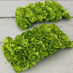 Mini Kağıt Gül Koyu Yeşil 120 Li Paket (kr6082) - Thumbnail