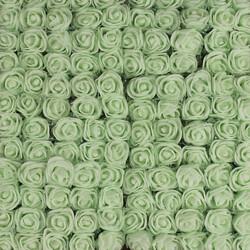 Mini Tüllü Lateks Gül Açık Yeşil 144'lü Paket (kr6054) - Thumbnail