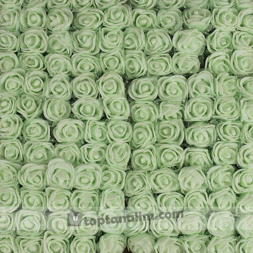 Mini Tüllü Lateks Gül Açık Yeşil 144'lü Paket (kr6054)