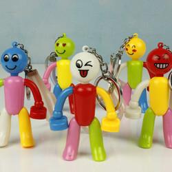 Plastik Hareketli Renkli Anahtarlık (kr1155) - Thumbnail