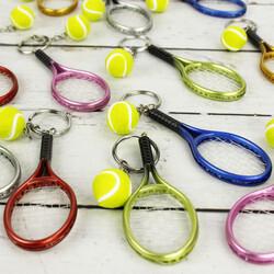Tenis Raket Anahtarlık 12'lipaket (kr1008) - Thumbnail