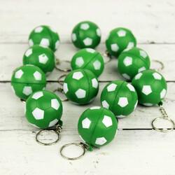Yeşil Ve Beyaz Renklerde Stres Topu Anahtarlık 12'li Paket (kr1067) - Thumbnail