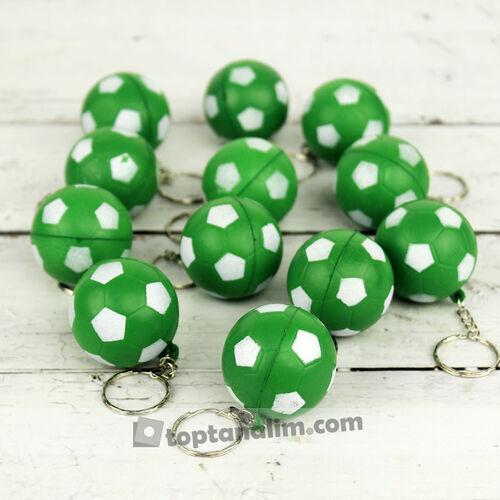 Yeşil Ve Beyaz Renklerde Stres Topu Anahtarlık 12'li Paket (kr1067)