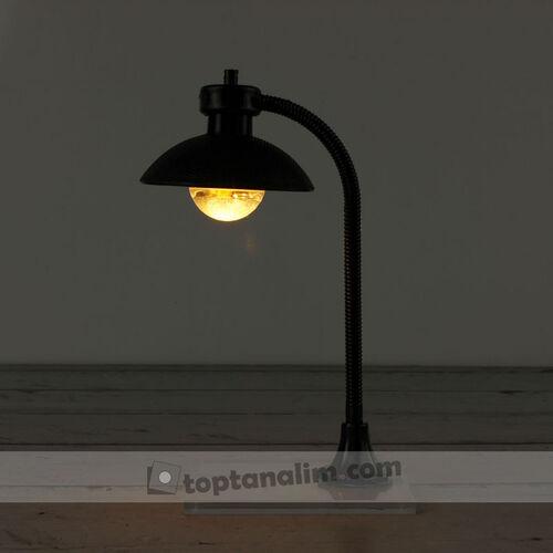 Siyah Abajur Sokak Lambası Teraryum Obje (kr3052)