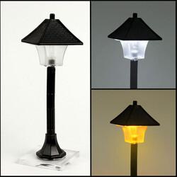 Siyah Sokak Lambası Çatı Model Teraryum Obje (kr3149) - Thumbnail
