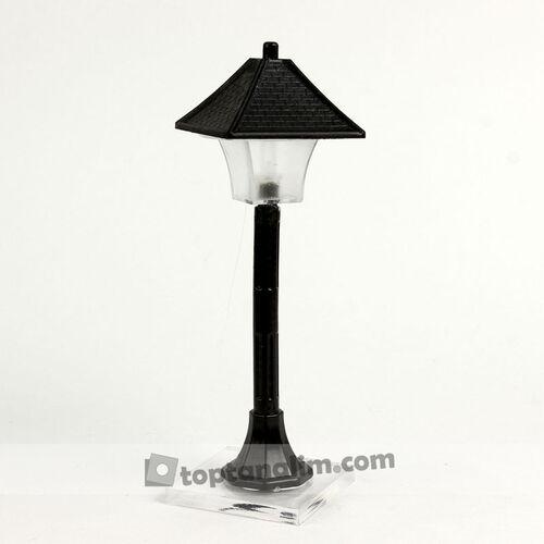 Siyah Sokak Lambası Çatı Model Teraryum Obje (kr3149)