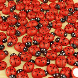 Yapışkanlı Uğur Böceği Kırmızı 100'lü Paket (kr6000) - Thumbnail