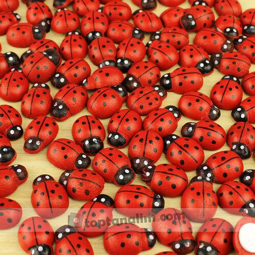 Yapışkanlı Uğur Böceği Kırmızı 100'lü Paket (kr6000)