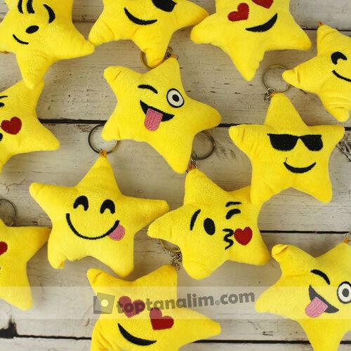 Yıldız Emoji Peluş Anahtarlık 12'li Paket (kr1061)