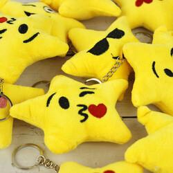 Yıldız Emoji Peluş Anahtarlık 12'li Paket (kr1061) - Thumbnail
